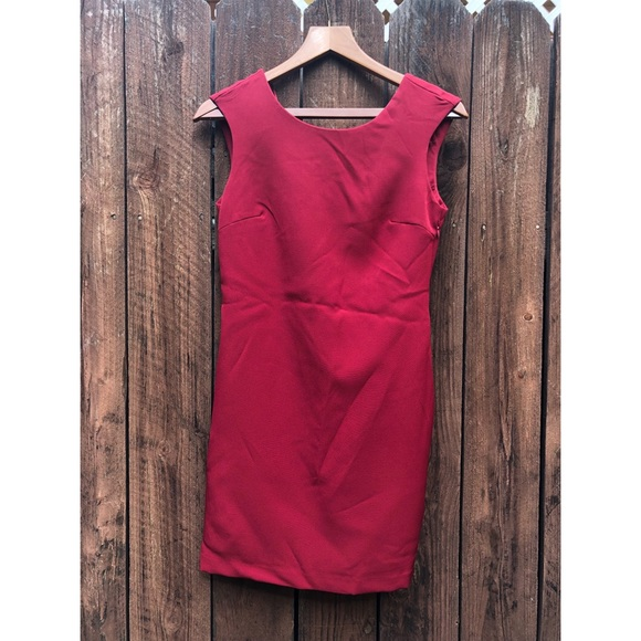 49d2cfffab1 NWT Zara Red Sleeveless Open Back Dress sz Small